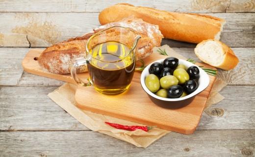 Olives et huile